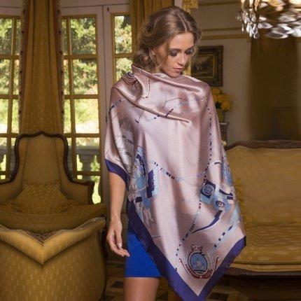 brown silk scarf
