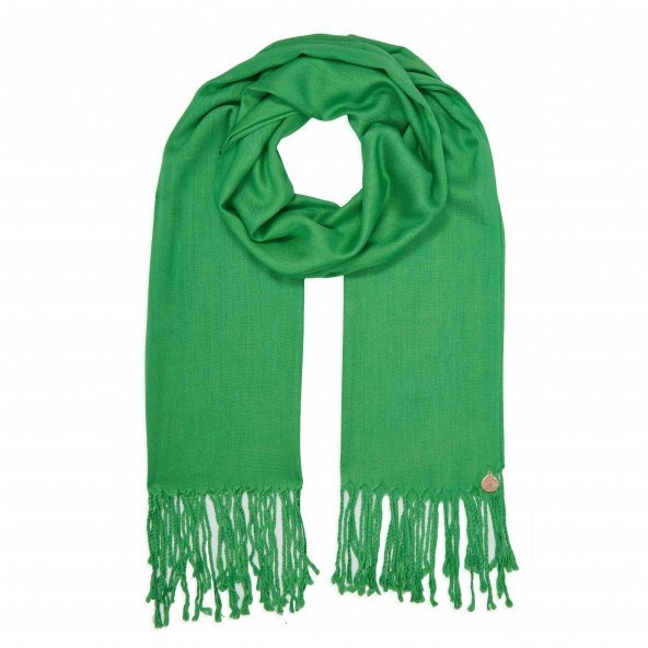 pashmina shawl emerald green