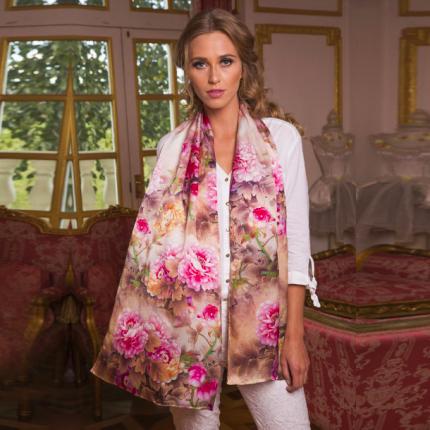 twill silk scarf light pink